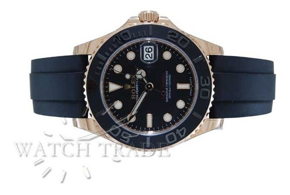 Relógio Rolex Yachtmaster 37mm Em Ouro Rose Ref.: 268655