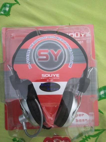 Headphone / Headset Com Microfone - Souye - Sy-301
