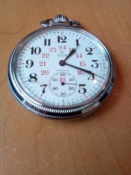 Reloj De Bolsillo Elgin Ferrocarrilero