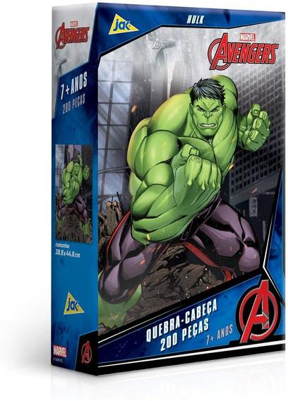 Quebra Cabeça Puzzle 200 Peças Avengers Hulk
