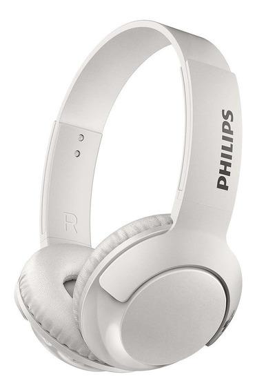 Fone De Ouvido Headphone Bluetooth Philips Branco + Nf