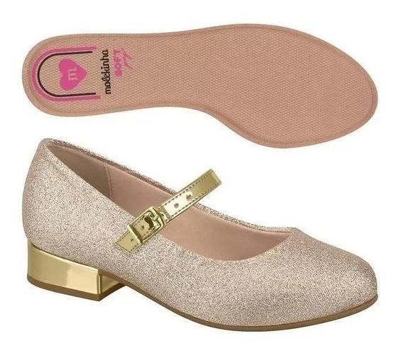 Sapato Infantil Feminino Glitter Molekinha Festa 2528.101