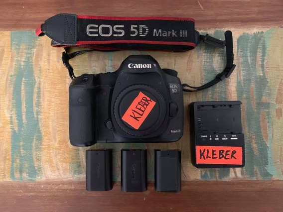 Canon 5d Mark Iii + 3 Baterias Lp6 + Carregador Original