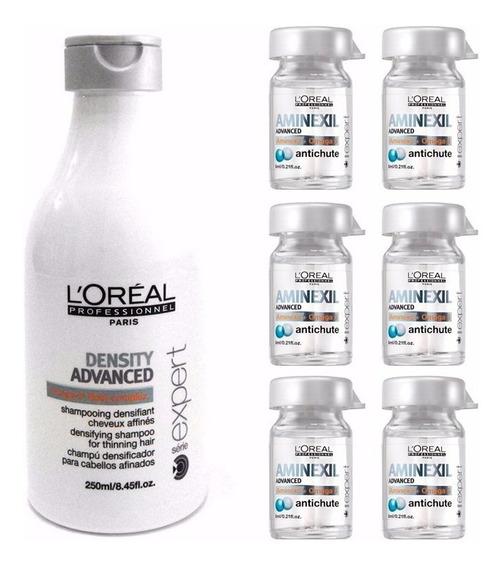 Loreal Shampoo Density Advanced 250ml + 6 Ampollas Aminexyl