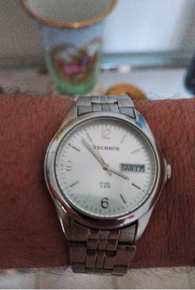 Relógio Usado Technos Classic Steel 1s02ag/1k Bateria