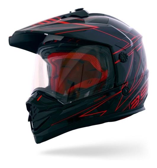 Capacete Asw Image Dual Vermelho Moto Street Lançamento
