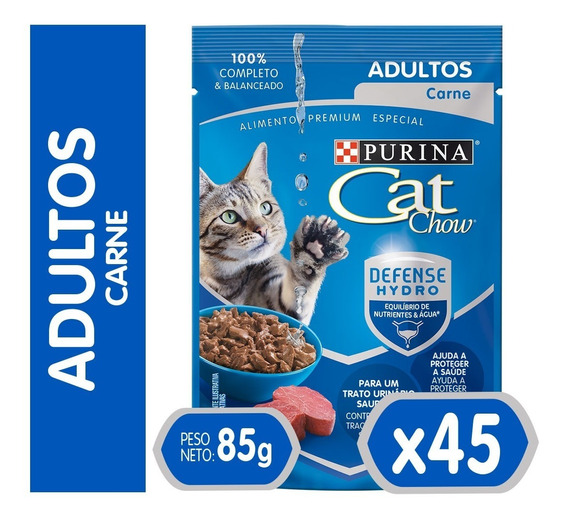 Pack Cat Chow® Adultos Carne 85 Gr