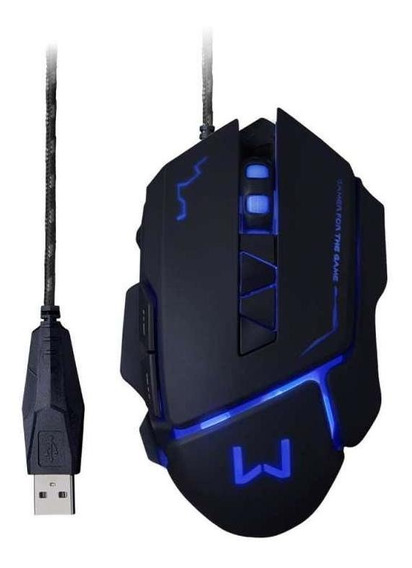Mouse Gamer Mouse 3200 Dpi Preto Usb Warrior - Mo261