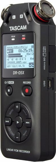 Gravador Áudio Tascam Dr-05x Digital Portátil Versão 2019
