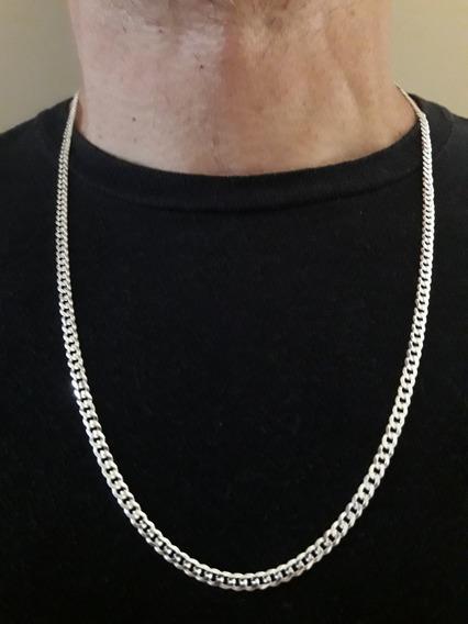 Corrente Groumet Masculina 16.2gr 70cm Prata 925 + Brinde
