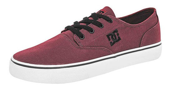 Sneaker Deportivo Dc Shoes Niño Vino Textil Flash 89206ipk