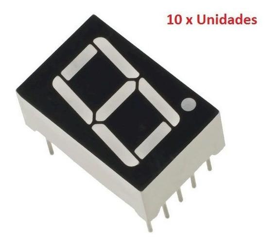 10 Unidades Display De 7 Segmentos Vermelho Arduino Esp8266