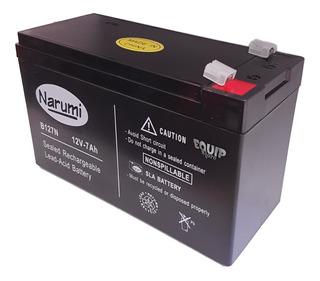 Bateria Gel Narumi 12v 7ah Recargable Alarma X28 Ups 7 Amper