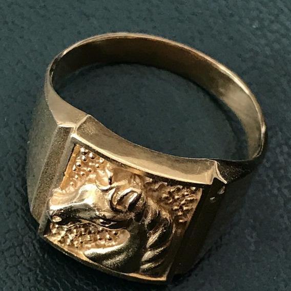Anel Ouro 18k, Aro: 22, Peso: 7,1 Gr. Unisex E Lindo.