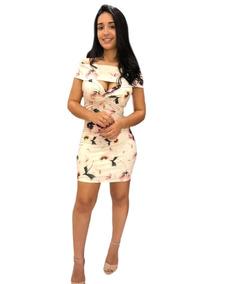 Vestido Midi Decote Chique Lança Perfume Original