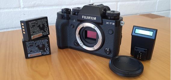 Câmera Digital Fujifilm X-t3 (corpo) Preta + Bateria Extra