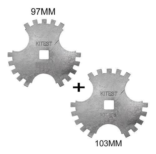 Imagem 1 de 9 de Chave De Garras Porca Diferencial Flange Gm 97mm + 103mm