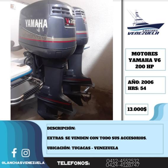 Pareja De Motores Yamaha V6 200hp Lv407