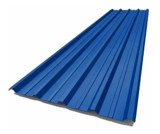 Chapa Trapezoidal Techo Color Azul Milenium C25 Por 6 Metros
