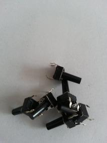 Chave Tactil 4terminais Botão Alto 180º = Kfc-a06 6x6x9,5 4