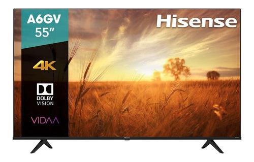 Imagen 1 de 6 de Pantalla Led Hisense 55 Ultra Hd 4k Smart Tv 55a6gv Vidaa Os