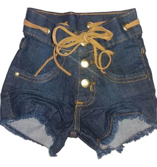 Short Jeans Infantil Meninas Feminino Tamanhos 02 A 14
