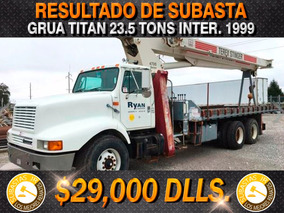 Grua Titan 23.5 Tons Camion International 1999,gruas Titan