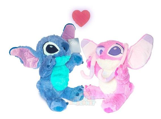 Pelúcia Stitch E Angel - Lilo & Stitch - 36 Cm Frete Grátis*