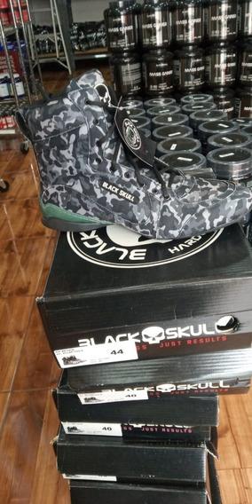Tenis / Bota Botinha De Musculação Bs 1020b - Black Skull