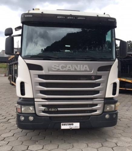 Scania G-420 11/12 6x2 Branco