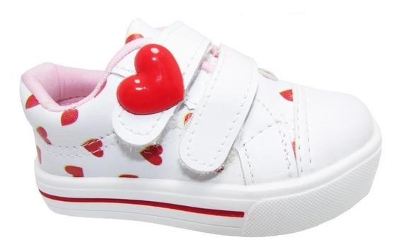Tênis Infantil Coração Timily Atacado 12 Pares Do 17 Ao 22
