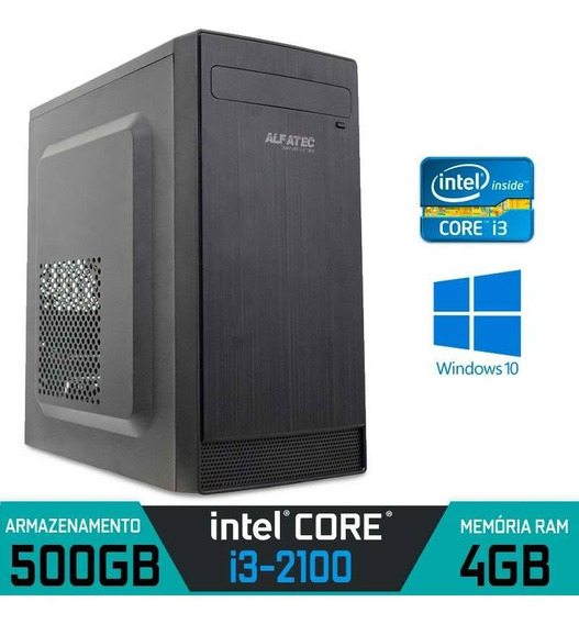 Computador Intel Core I3-2100 Ram 4gb Hd 500gb Windows 10