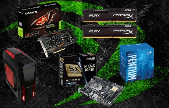 Pc Cpu Gamer Pentium G4560 / 8gb / Gtx 1050 T.i / 500 Gb Hd