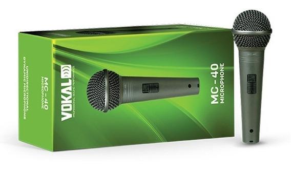 Microfone Profiss P/ Karaoke Igreja Mc-40 Tipo Sm58 Qualidad