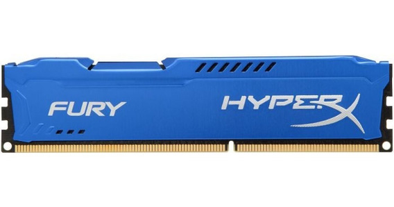 Memoria Ddr3 8gb 1600mhz Hyperx Fury Kingston Azul