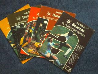 5 Fasciculos El Mundo Del Fútbol. Ahorro Banamex 1985