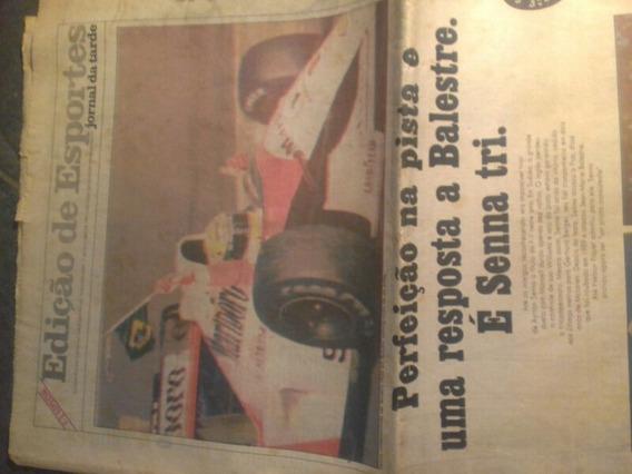 Jornal De 21 Outubro 1991. Ayrton Senna Tricampeao 20 Pgs.