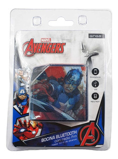 Bocina Capitan America Bluetooth Micro Sd Usb Recargable