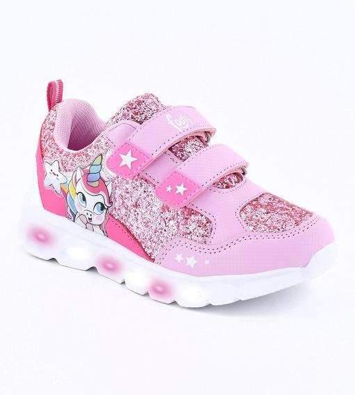 Zapatillas De Niñas Con Luces Footy Unicornio Fx344