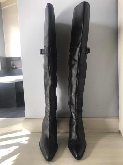 Bucaneras De Cuero Negras Zara