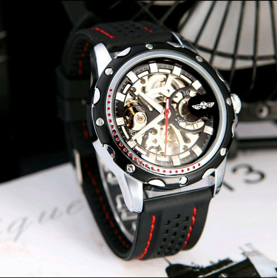 Relógio Masculino Automático Winner Original Esqueletizado