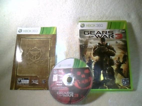 Game Xbox 360 - Gears Of War 3 ( Semi-novo )