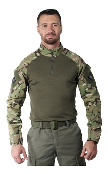 Combat Shirt Camuflado Multicam - Bélica