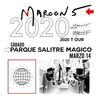 2 Boletas Concierto Maroon 5 - Platino-bogotá 2020
