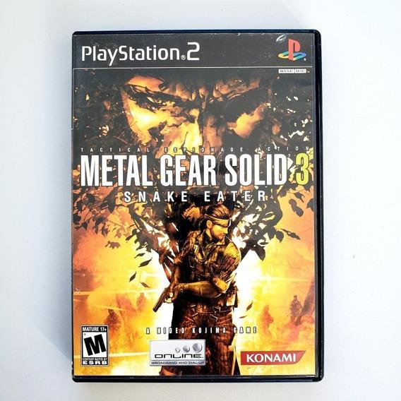 Metal Gear Solid 3 Snake Eater Ps2 Original Midia Física