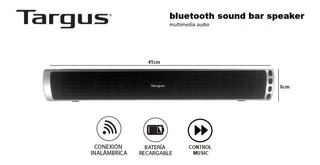 Audio Portátil Barra Targus Bluetooth Cuotas