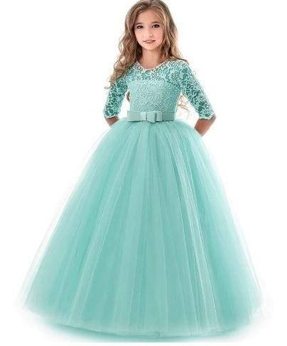 Vestido Importado Infantil Con Brocato