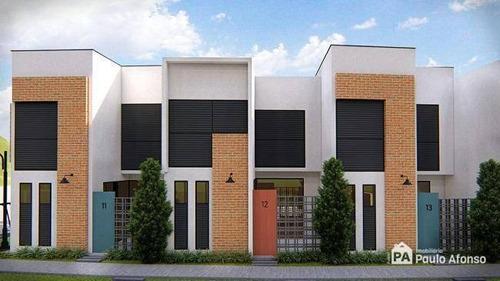 Casa Com 2 Dormitórios À Venda, 68 M² Por R$ 240.000,00 - Village São Luiz - Poços De Caldas/mg - Ca0348