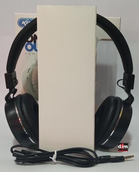 Fone De Ouvido Knup Com Fio Colorido Kp 421 Com Microfone