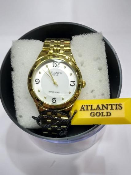 Relógio Feminino Atlantis Dourado Médio